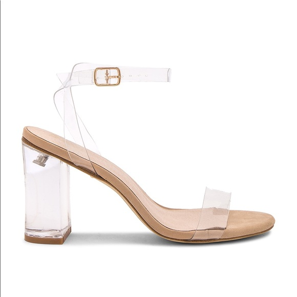 385a87db310 Raye X Revolve Alta Lucite Heel in Clear   Nude